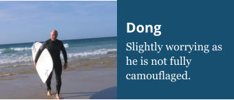 Dong Slightly worrying as he is not fully camouflaged.